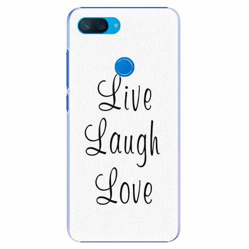 Plastový kryt iSaprio - Live Laugh Love - Xiaomi Mi 8 Lite