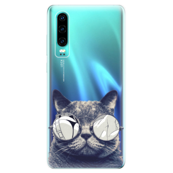 Odolné silikonové pouzdro iSaprio - Crazy Cat 01 - Huawei P30
