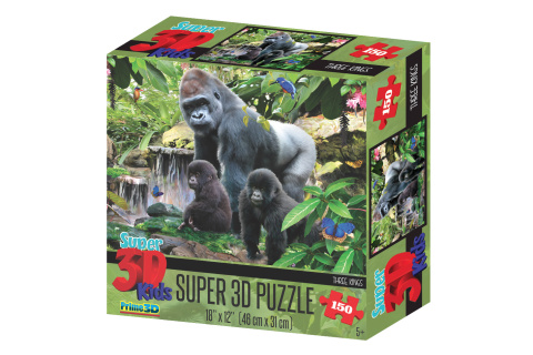 Puzzle Opičí rodina 150 dílků 3D