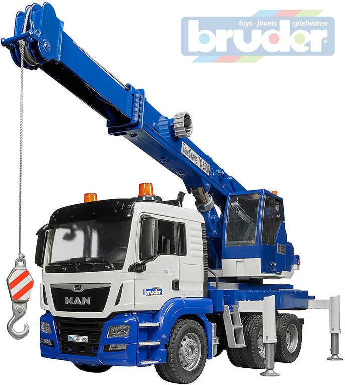 BRUDER 03770 (3770) Auto nákladní MAN TGS autojeřáb funkční model 1:16 plast