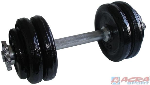 ACRA Činka jednoruční set s kotouči nakládací 2 druhy 14kg