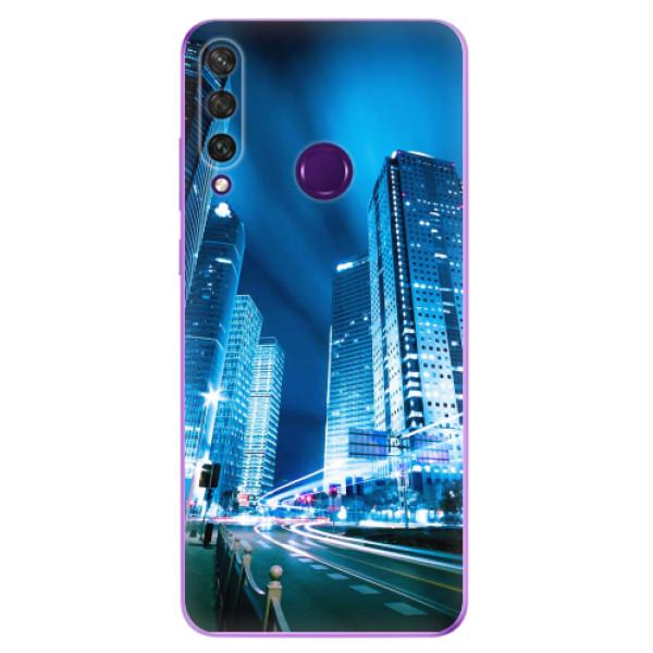 Odolné silikonové pouzdro iSaprio - Night City Blue - Huawei Y6p