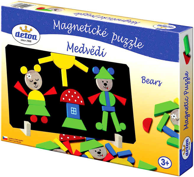 DETOA Puzzle medvědi magnetické * DŘEVĚNÉ HRAČKY *