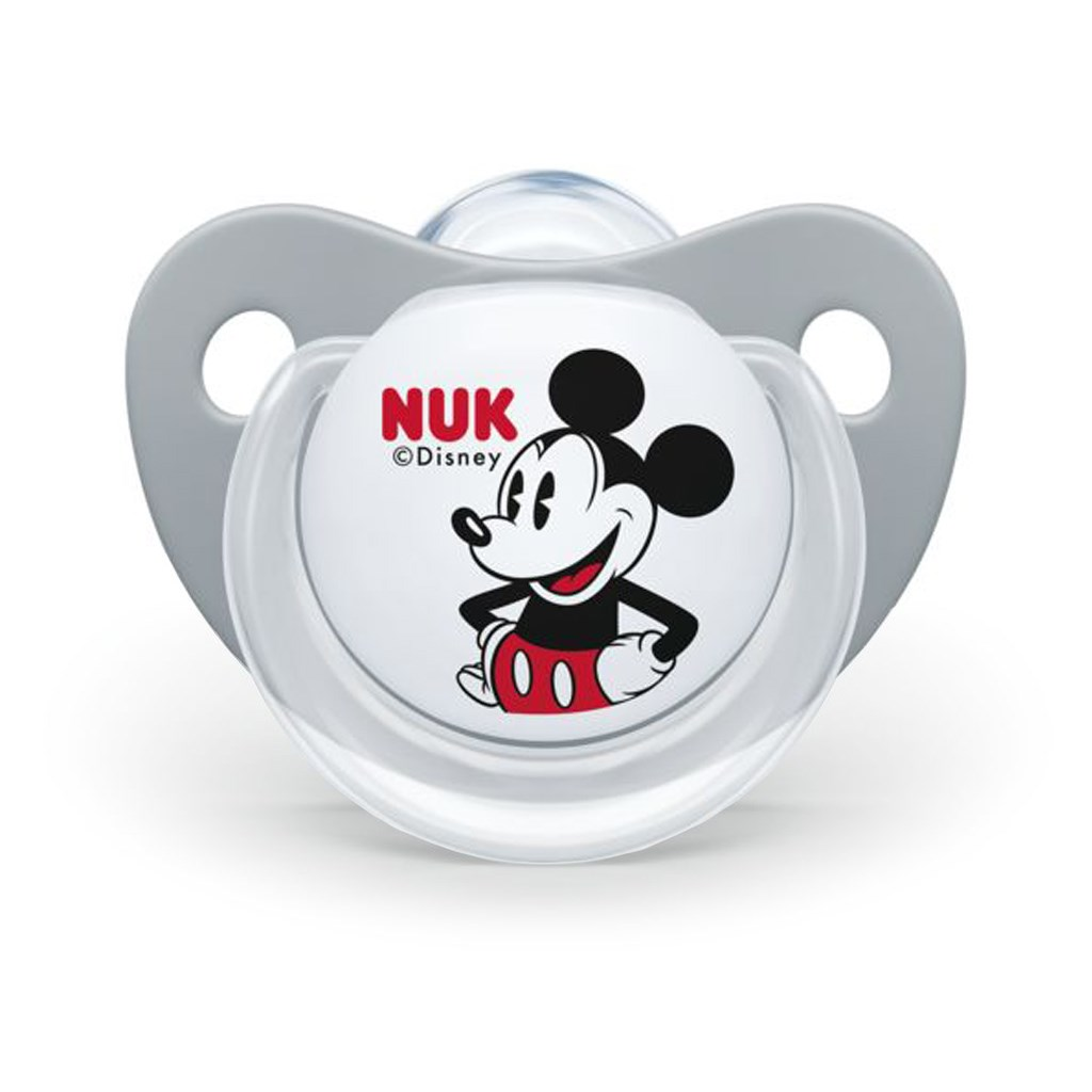 Šidítko NUK Trendline Mickey Mouse 6-18m šedé - šedá/6-18 m