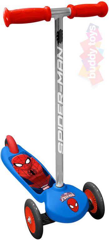 BUDDY TOYS Koloběžka Spiderman 3 kolečka kloubové řízení
