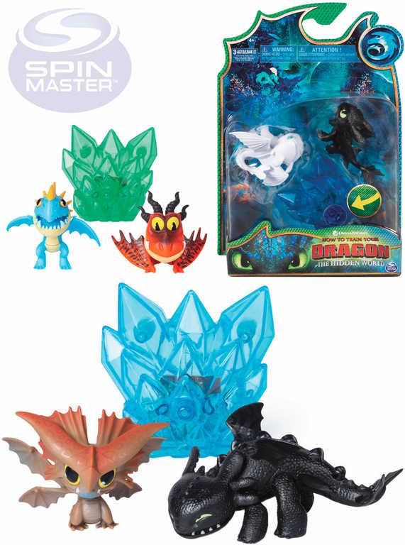 SPIN MASTER Drak figurka Jak vycvičit draka 3 set 2ks s doplňkem na baterie Světlo