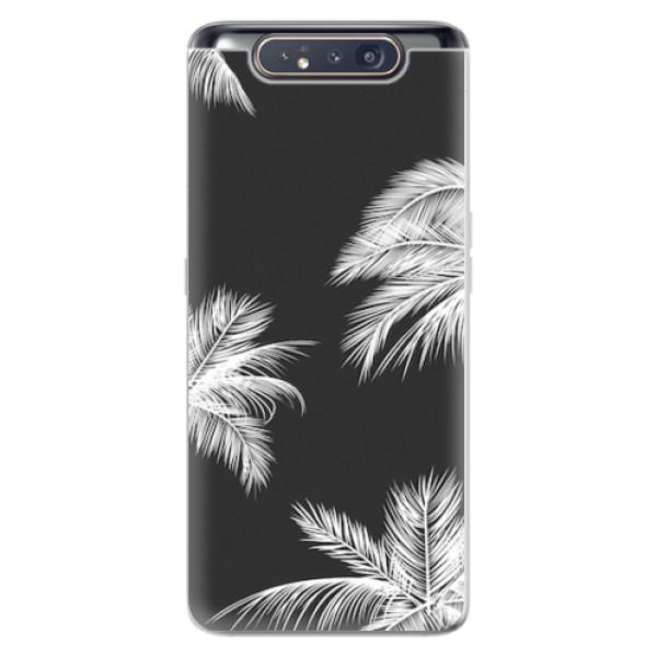 Odolné silikonové pouzdro iSaprio - White Palm - Samsung Galaxy A80