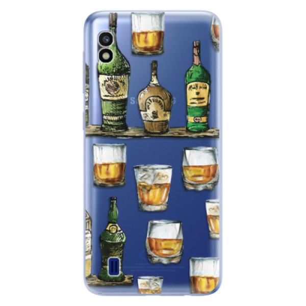Odolné silikonové pouzdro iSaprio - Whisky pattern - Samsung Galaxy A10