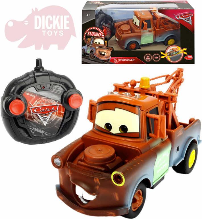 DICKIE RC Autíčko Burák Auta 3 (Cars) 17cm 1:24 na dálkové ovládání 2,4GHz turbo plast
