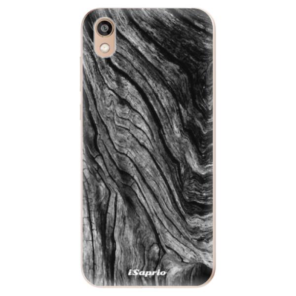 Odolné silikonové pouzdro iSaprio - Burned Wood - Huawei Honor 8S