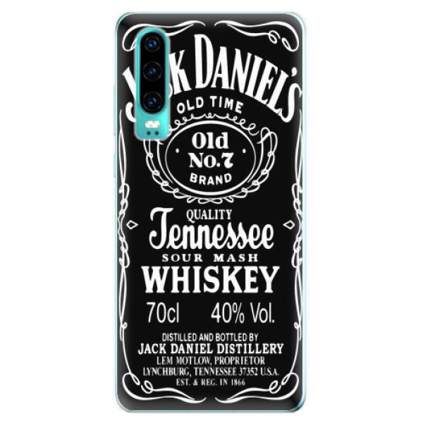 Odolné silikonové pouzdro iSaprio - Jack Daniels - Huawei P30