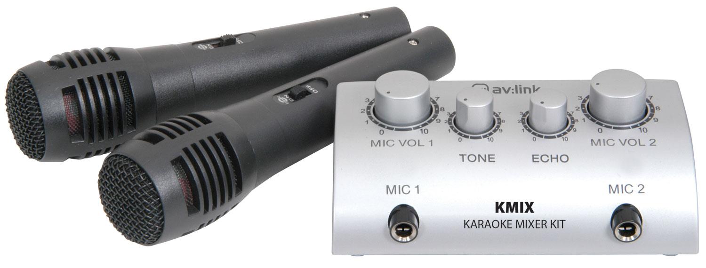 QTX karaoke set s mikrofony a mixem
