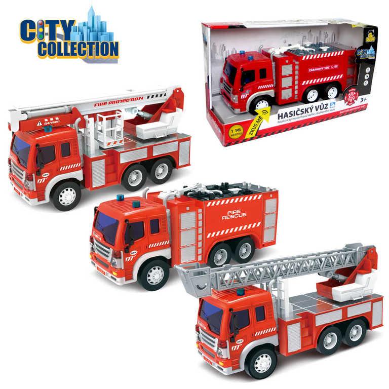 CITY COLLECTION Auto požární na setrvačník HASIČI světlo, zvuk