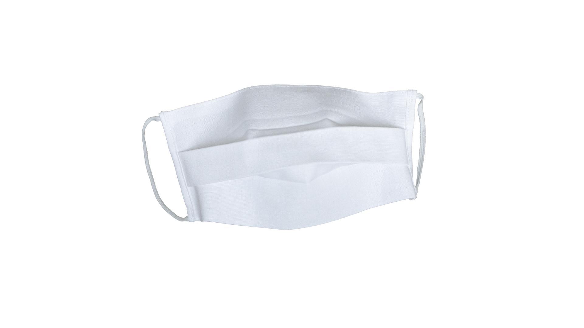 4CARS Dvouvrstvé ochranné bavlněné rouško bílé s gumičkou 3ks - větší