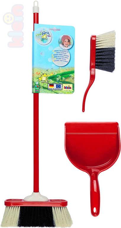 KLEIN Uklízecí set červený smeták 2ks + lopatka malá uklízečka plast