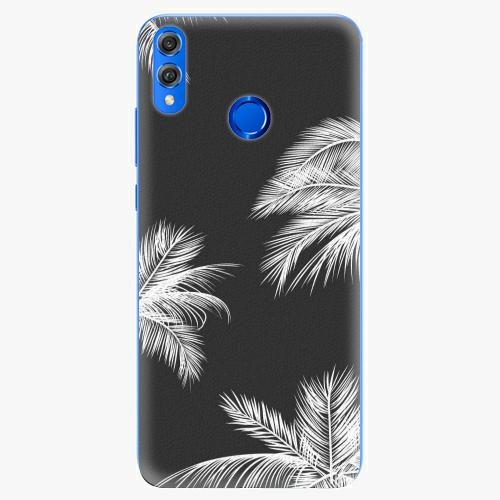 Silikonové pouzdro iSaprio - White Palm - Huawei Honor 8X