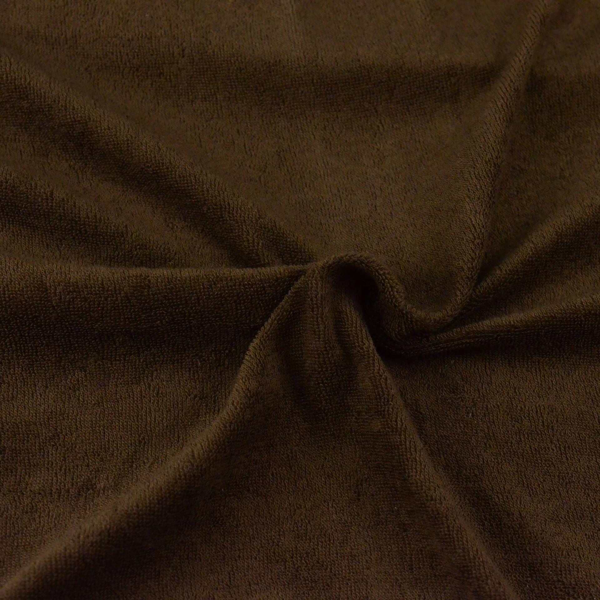 Froté prostěradlo tmavě hnědé, Výběr rozměru - 80x200cm