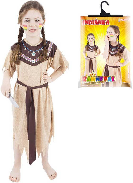 KARNEVAL Šaty Indiánka vel.M (116-128cm) 6-8 let KOSTÝM