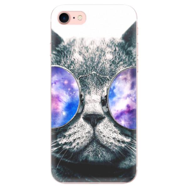 Odolné silikonové pouzdro iSaprio - Galaxy Cat - iPhone 7