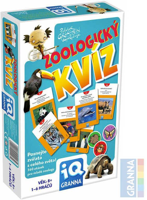 GRANNA Hra IQ Zoologický kvíz *SPOLEČENSKÉ HRY*