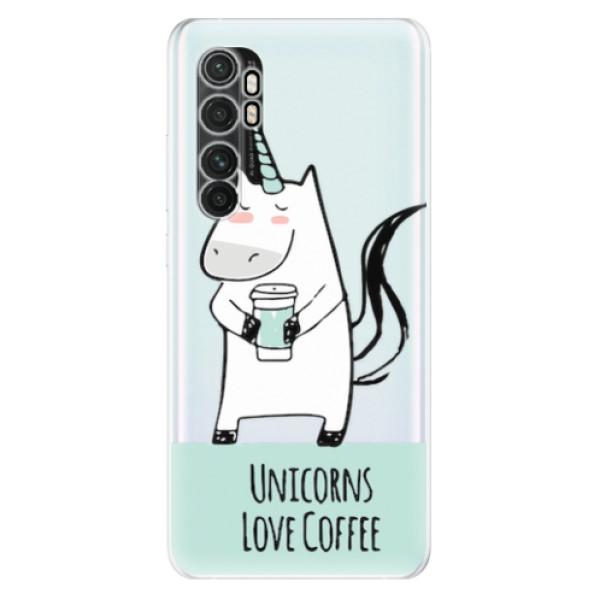 Odolné silikonové pouzdro iSaprio - Unicorns Love Coffee - Xiaomi Mi Note 10 Lite