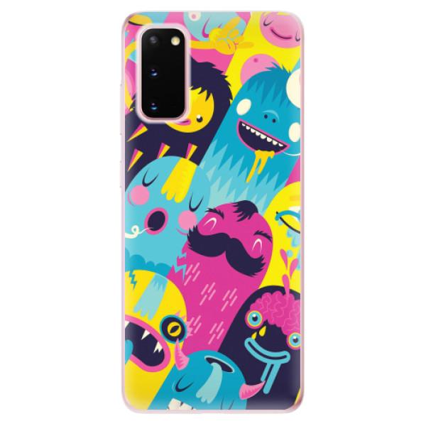 Odolné silikonové pouzdro iSaprio - Monsters - Samsung Galaxy S20