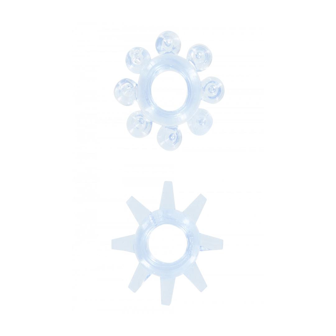 Transparetní modré kroužky POWER STRETCHY RINGS BLUE 2PCS