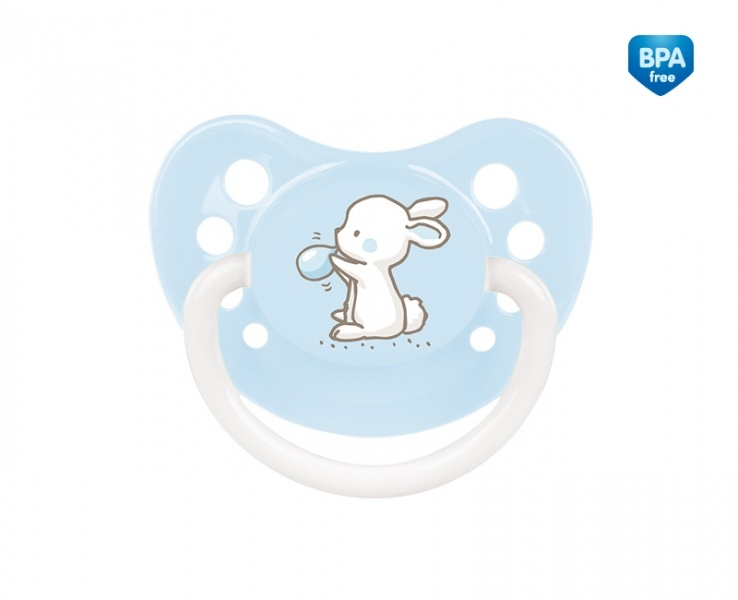 Dudlík anatomický Canpol Babies 18m+ C, Little Cutie - bledě modrý