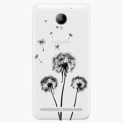 Plastový kryt iSaprio - Three Dandelions – black - Lenovo C2