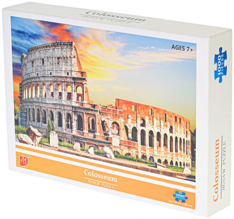 PUZZLE 1000 dílků Colosseum foto 70x50cm skládačka v krabici