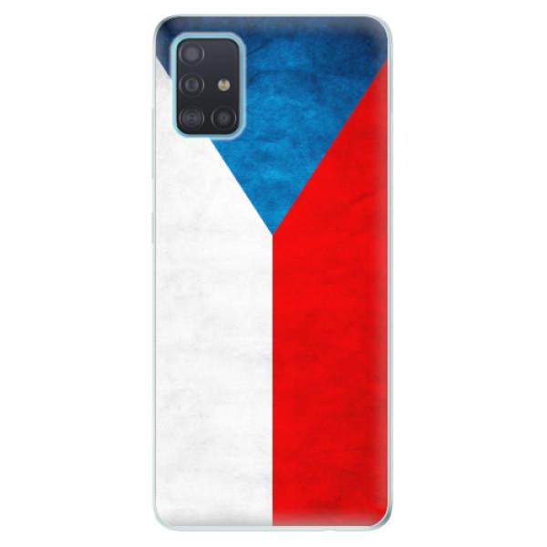 Odolné silikonové pouzdro iSaprio - Czech Flag - Samsung Galaxy A51