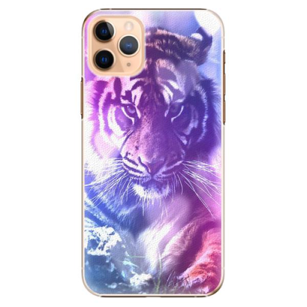 Plastové pouzdro iSaprio - Purple Tiger - iPhone 11 Pro Max
