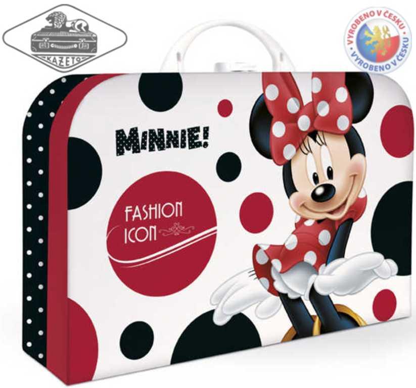 KAZETO Kufr Minnie Mouse velký kufřík