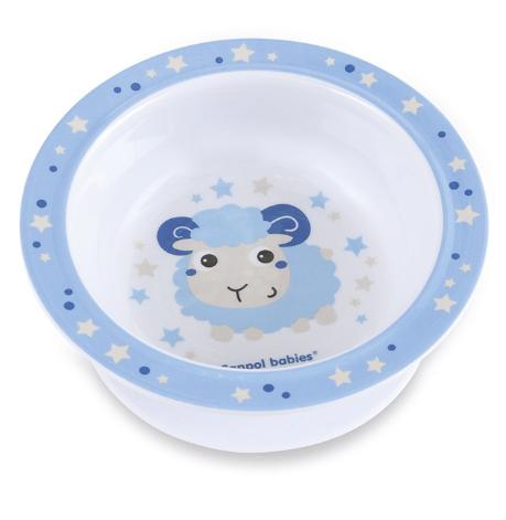 Melaminová miska s přísavkou Ovečka - modrá