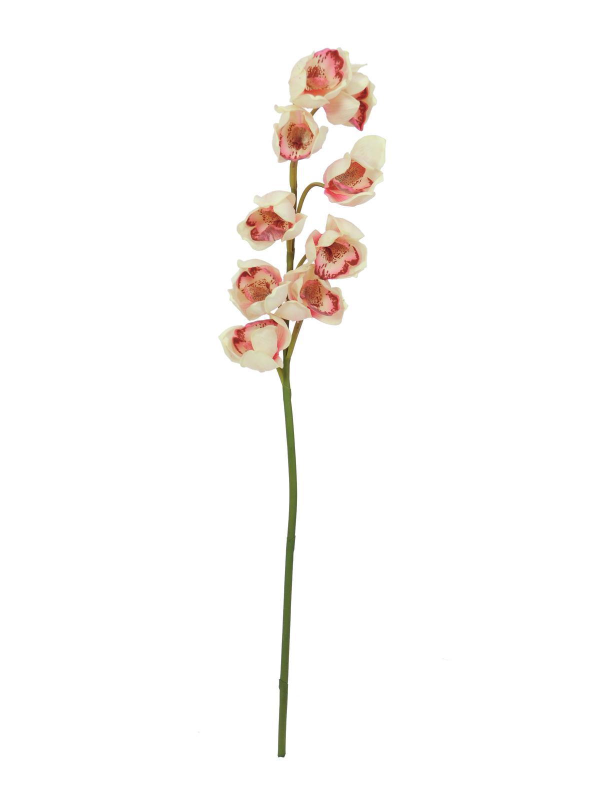 Orchidej větvička, krémově růžová, 90 cm