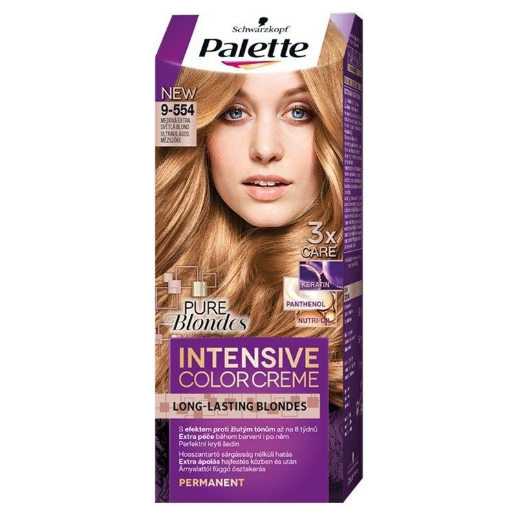 Palette Schwarzkopf Intensive Color Creme barva na vlasy Medová Extra Světlá Blond (9-554)