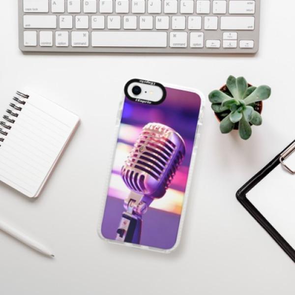 Silikonové pouzdro Bumper iSaprio - Vintage Microphone - iPhone SE 2020
