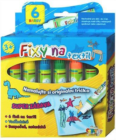 Fixy na textil VODĚ ODOLNÉ Výtvarné a kreativní hračky