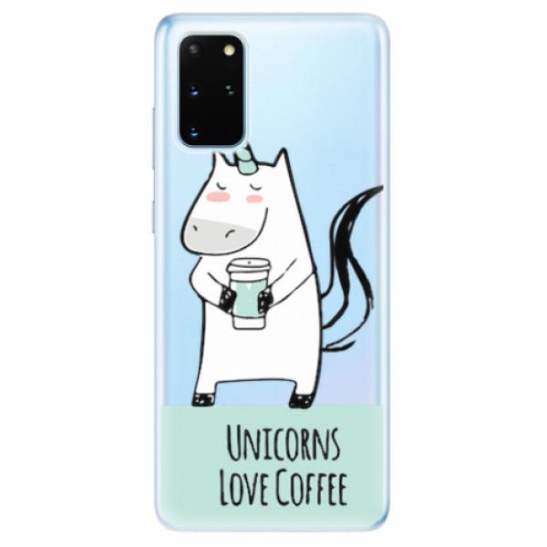 Odolné silikonové pouzdro iSaprio - Unicorns Love Coffee - Samsung Galaxy S20+