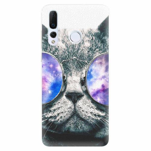 Silikonové pouzdro iSaprio - Galaxy Cat - Huawei Nova 4