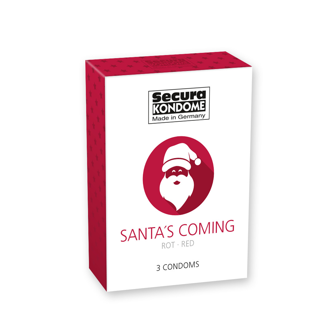 Kondomy Santa's Coming pack of 3