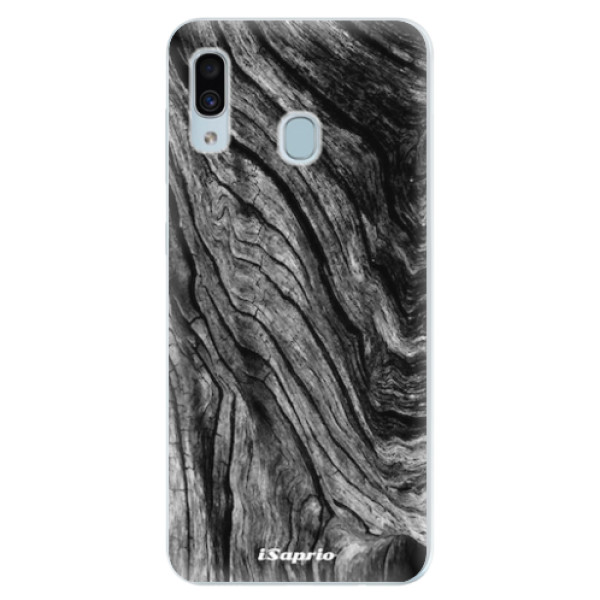 Silikonové pouzdro iSaprio - Burned Wood - Samsung Galaxy A30