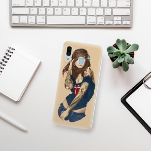 Silikonové pouzdro iSaprio - Girl 03 - Samsung Galaxy A30