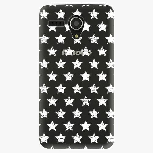 Plastový kryt iSaprio - Stars Pattern - white - Lenovo A606