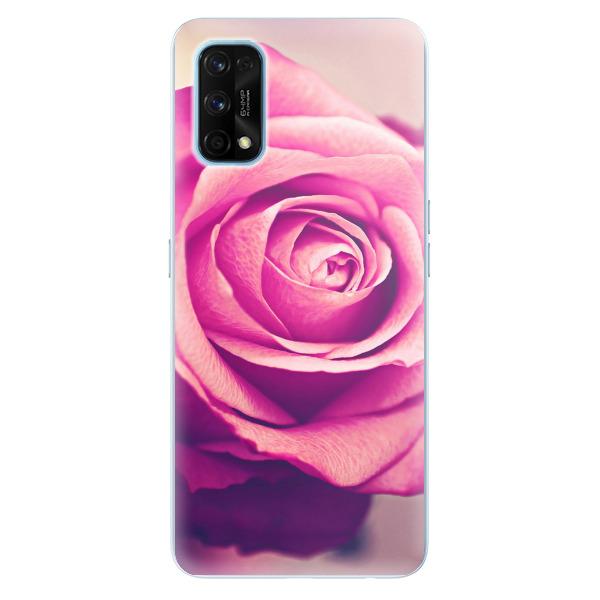 Odolné silikonové pouzdro iSaprio - Pink Rose - Realme 7 Pro