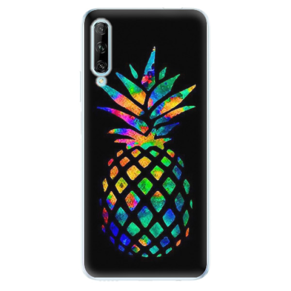 Odolné silikonové pouzdro iSaprio - Rainbow Pineapple - Huawei P Smart Pro