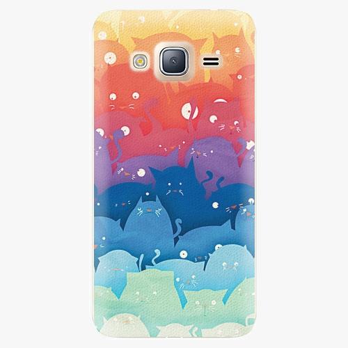 Plastový kryt iSaprio - Cats World - Samsung Galaxy J3