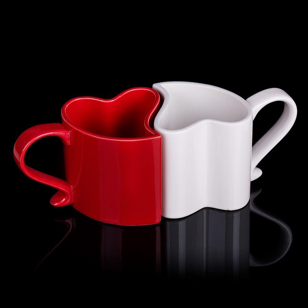 Zamilované hrníčky - bílo-červené