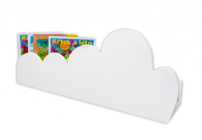 NELLYS Polička na stěnu Cloud - bílá