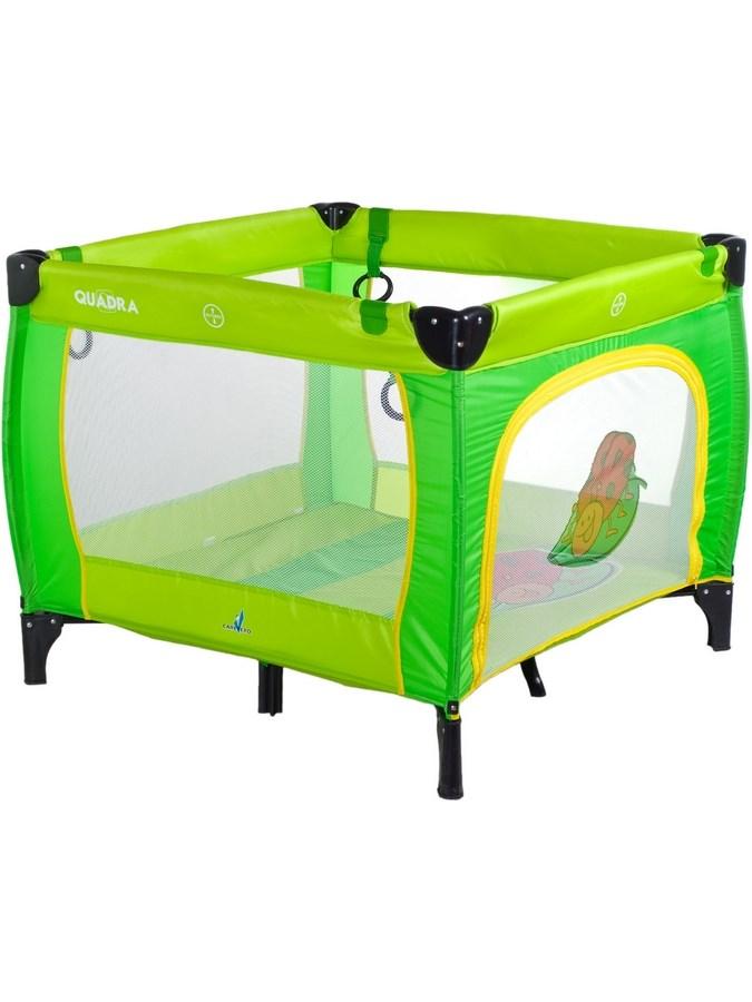 Dětská skládací ohrádka CARETERO Quadra - green - zelená